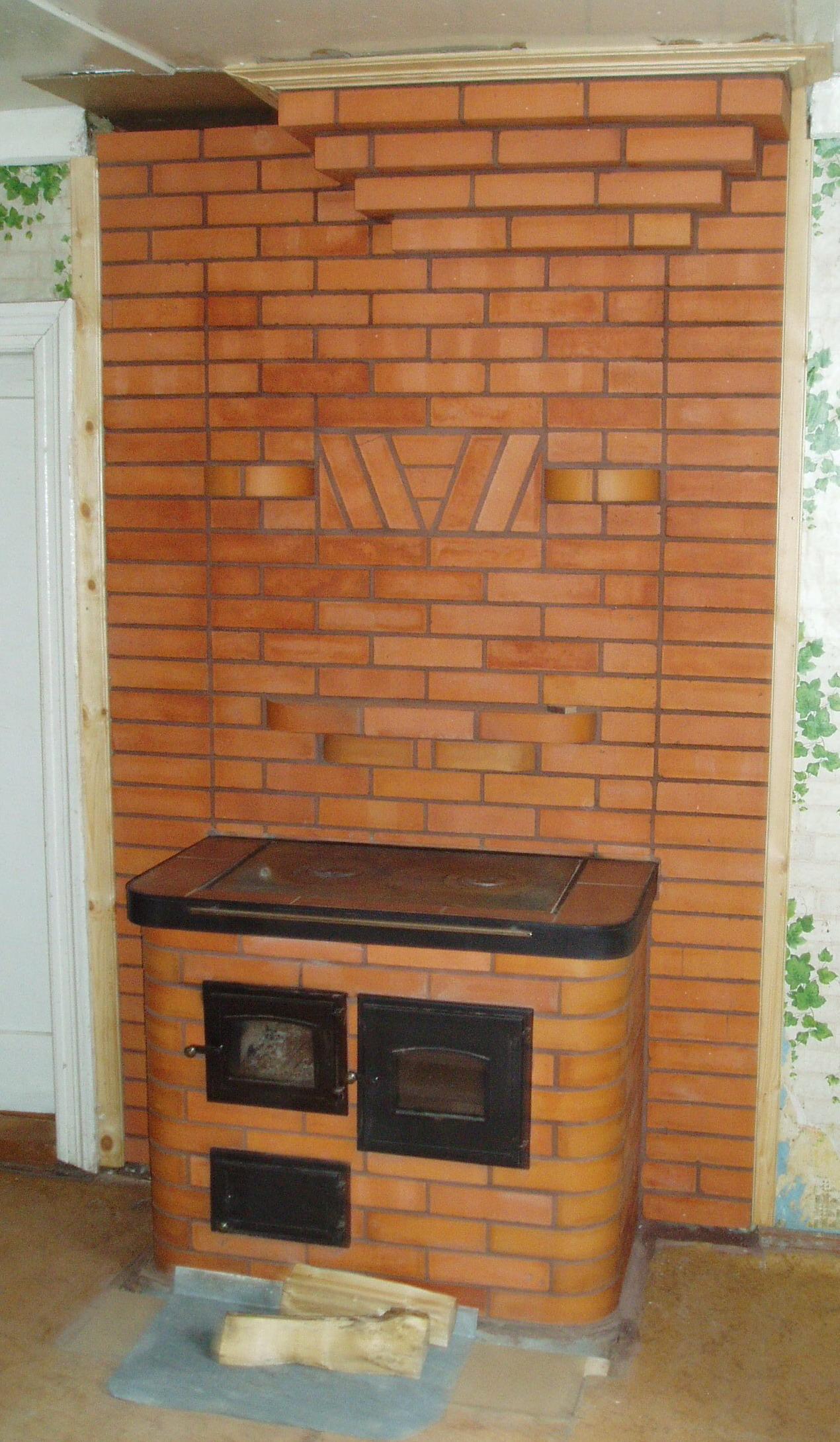 Кухонная плита с духовкой из кирпича своими руками