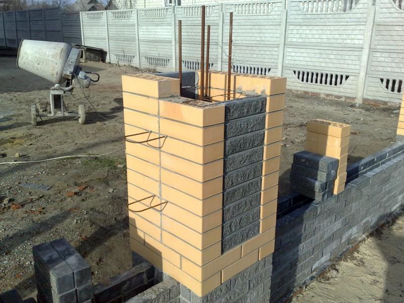 Ограда из кирпича своими руками 72
